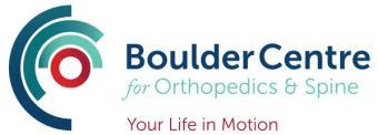 BoulderCentre for Orthopedics & Spine